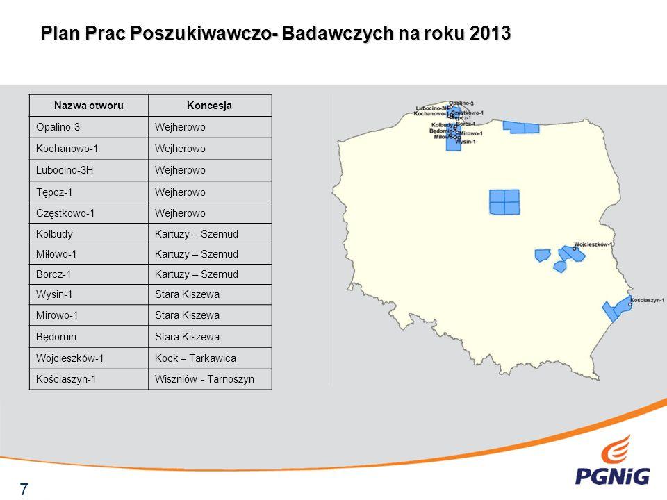 Plan Prac Poszukiwawczo- Badawczych na roku 2013