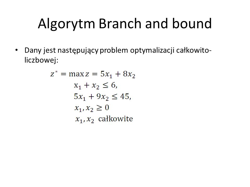 Algorytm Branch and bound