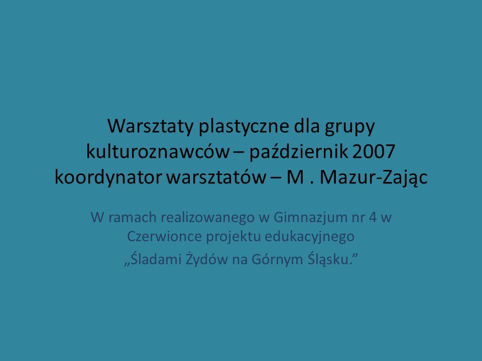 """""""Śladami Żydów na Górnym Śląsku."""
