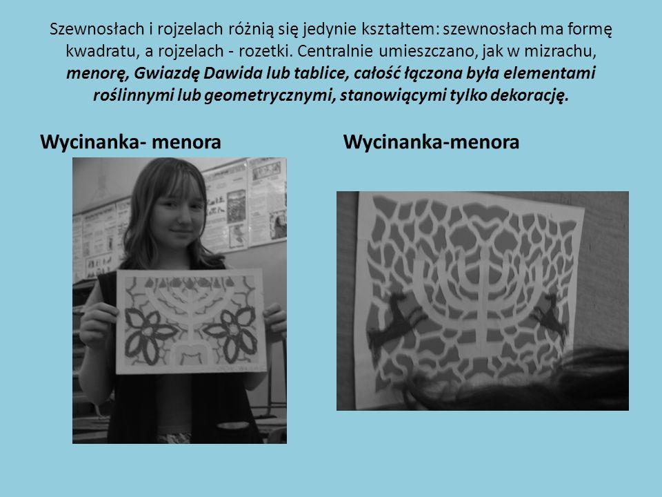 Wycinanka- menora Wycinanka-menora