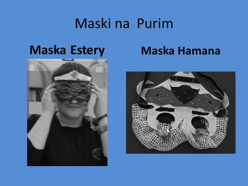 Maski na Purim Maska Estery Maska Hamana