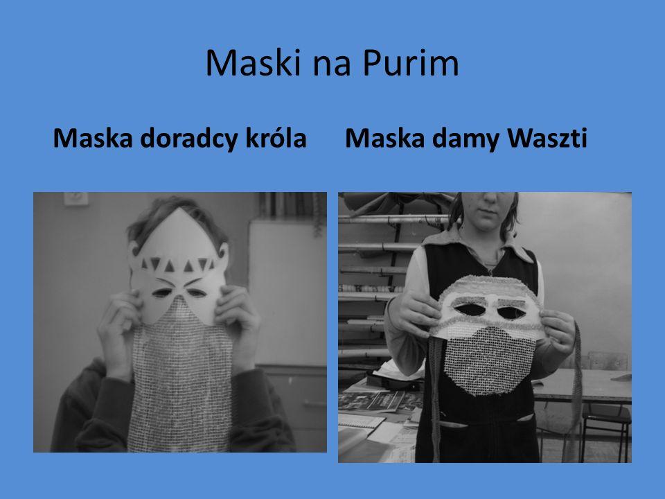 Maski na Purim Maska doradcy króla Maska damy Waszti