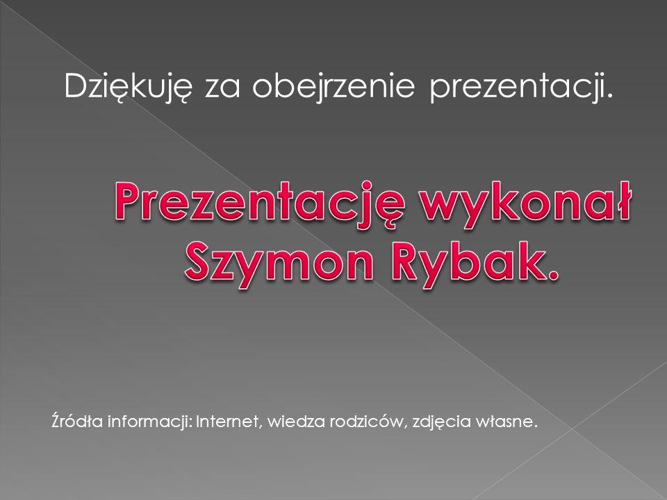 Prezentację wykonał Szymon Rybak.