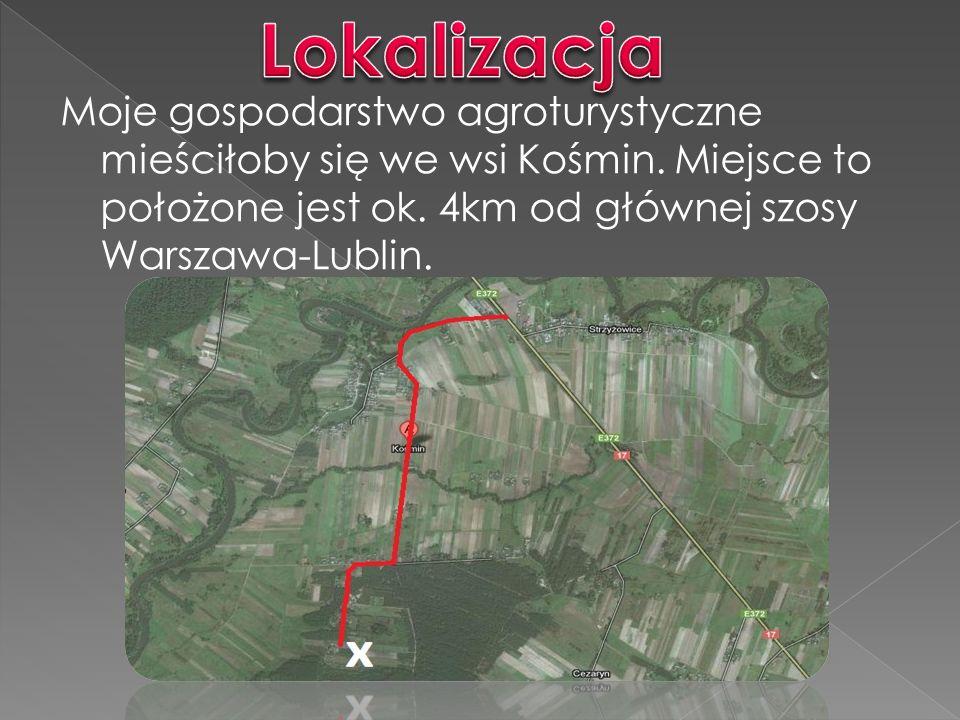 Lokalizacja Moje gospodarstwo agroturystyczne mieściłoby się we wsi Kośmin.
