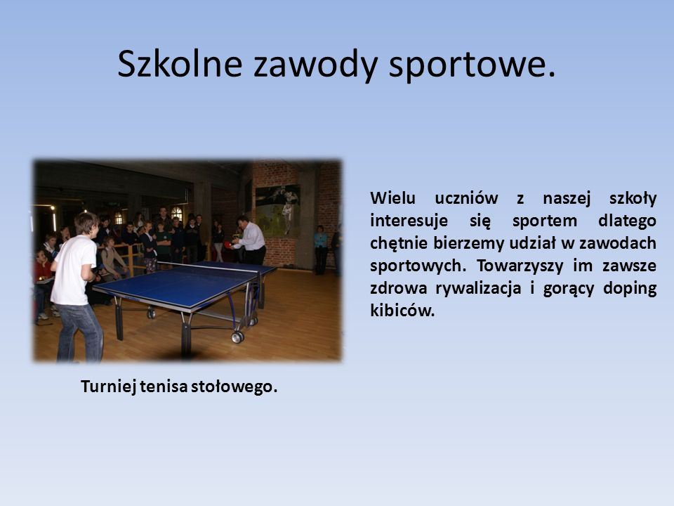 Szkolne zawody sportowe.