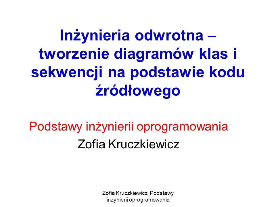 Podstawy inżynierii oprogramowania Zofia Kruczkiewicz