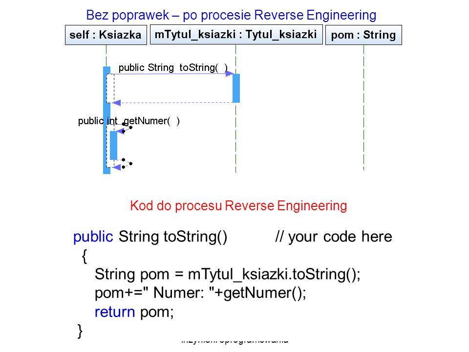 public String toString() // your code here {