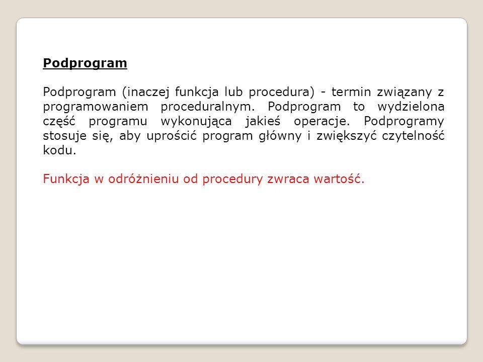 Podprogram