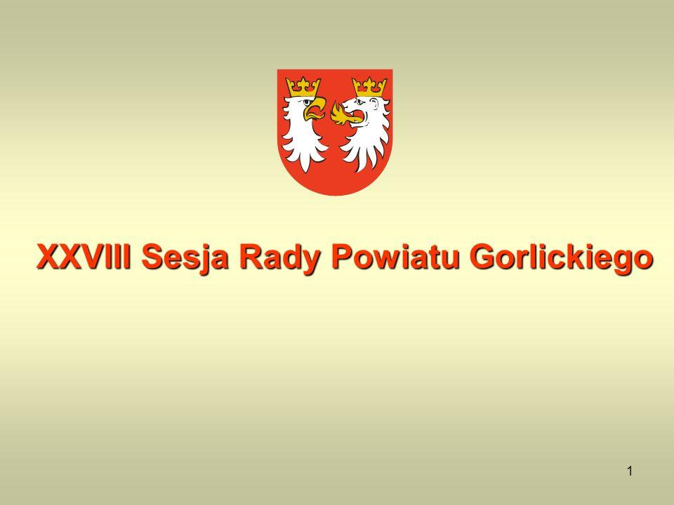 XXVIII Sesja Rady Powiatu Gorlickiego
