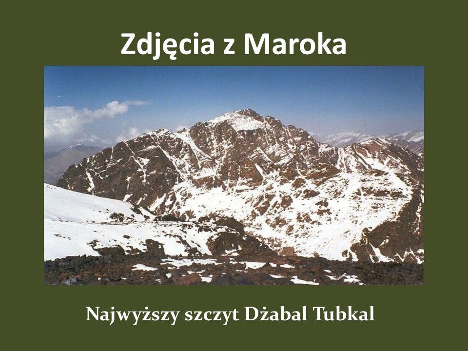 Najwyższy szczyt Dżabal Tubkal