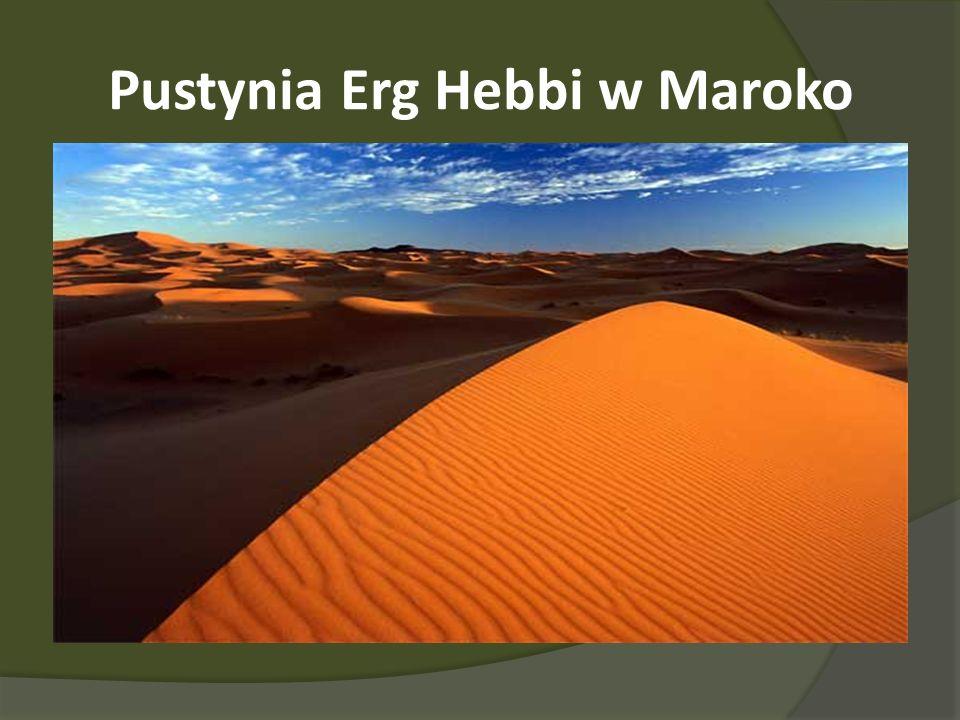 Pustynia Erg Hebbi w Maroko