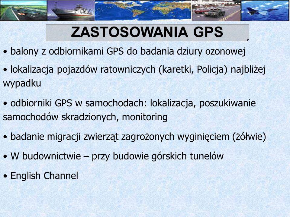 ZASTOSOWANIA GPS balony z odbiornikami GPS do badania dziury ozonowej