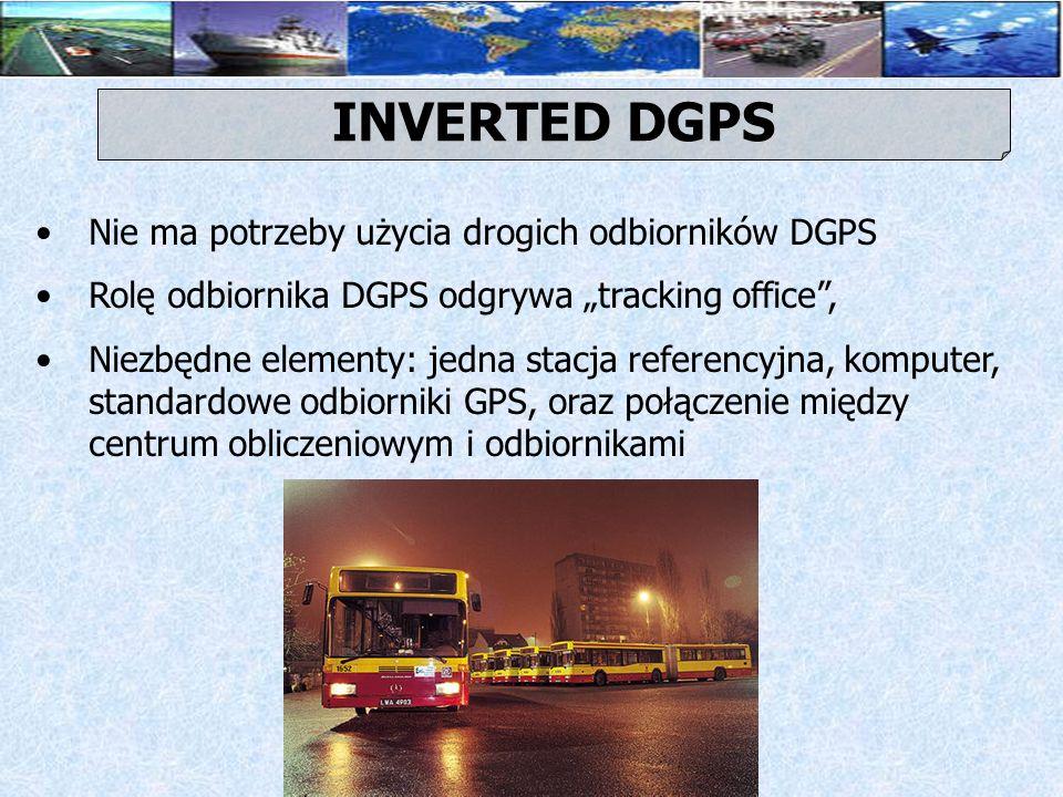 INVERTED DGPS Nie ma potrzeby użycia drogich odbiorników DGPS