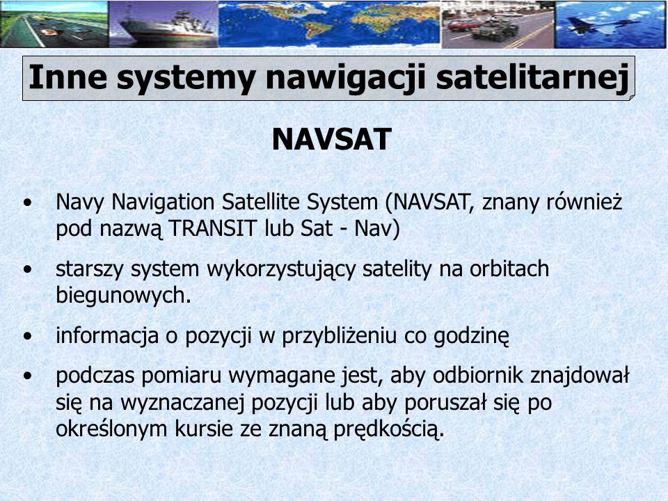 Inne systemy nawigacji satelitarnej