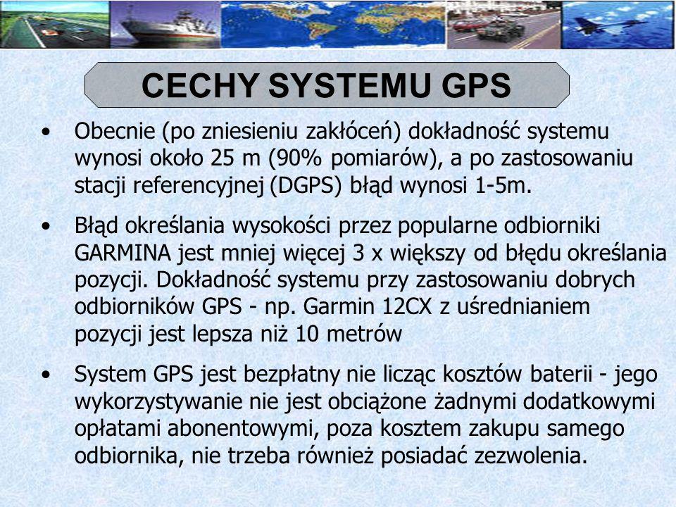 CECHY SYSTEMU GPS