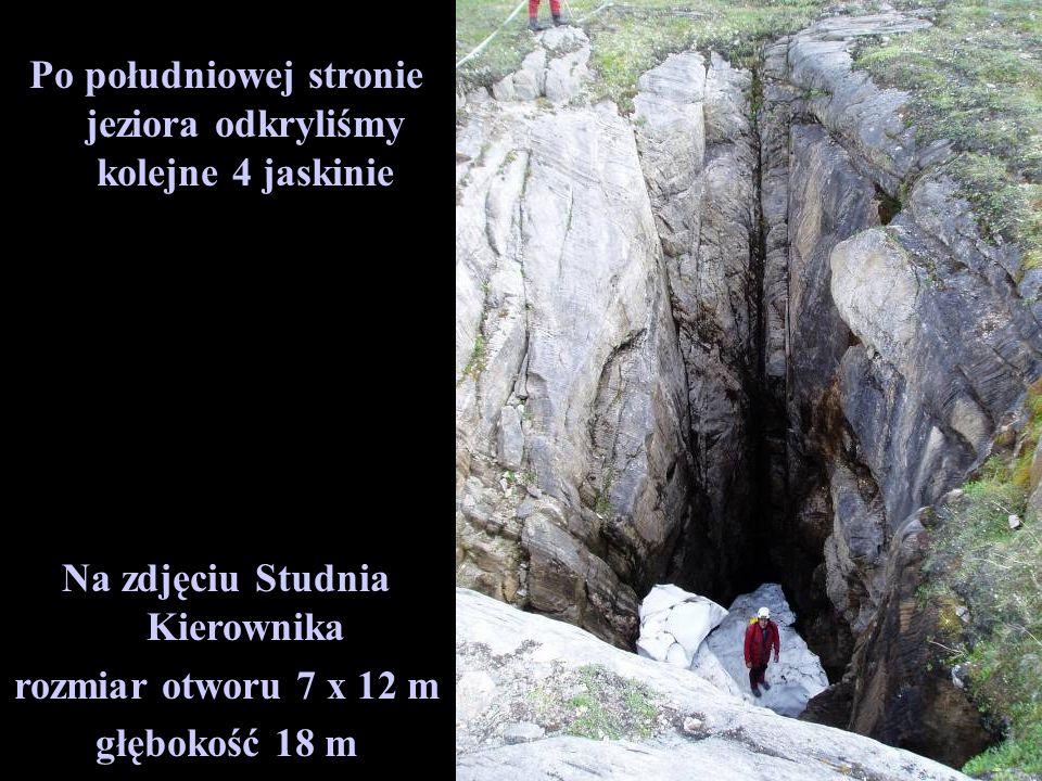 Po południowej stronie jeziora odkryliśmy kolejne 4 jaskinie