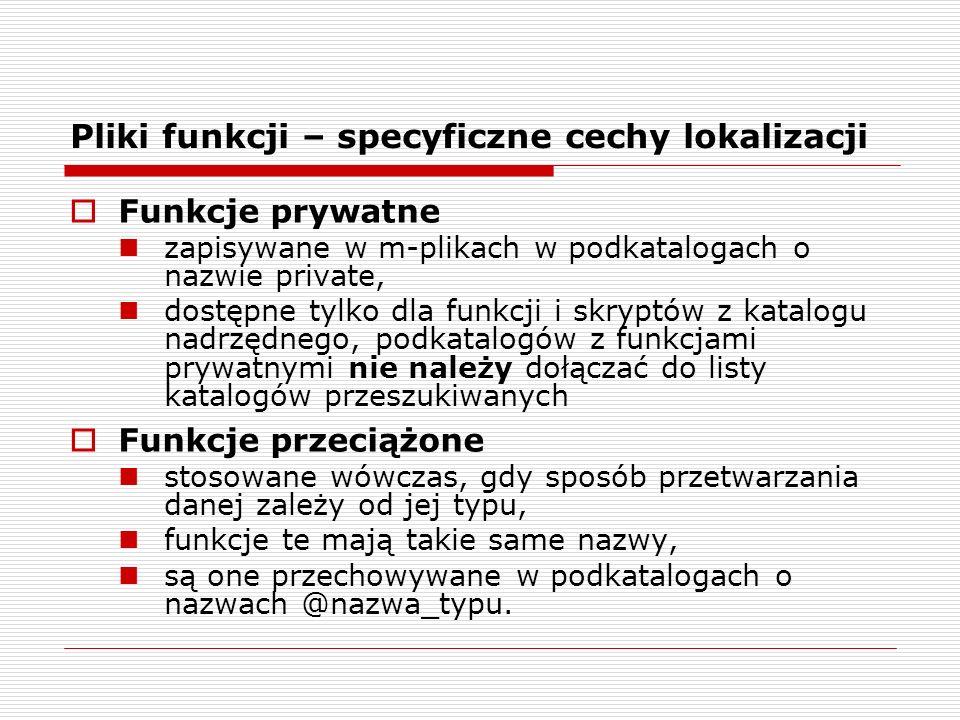 Pliki funkcji – specyficzne cechy lokalizacji