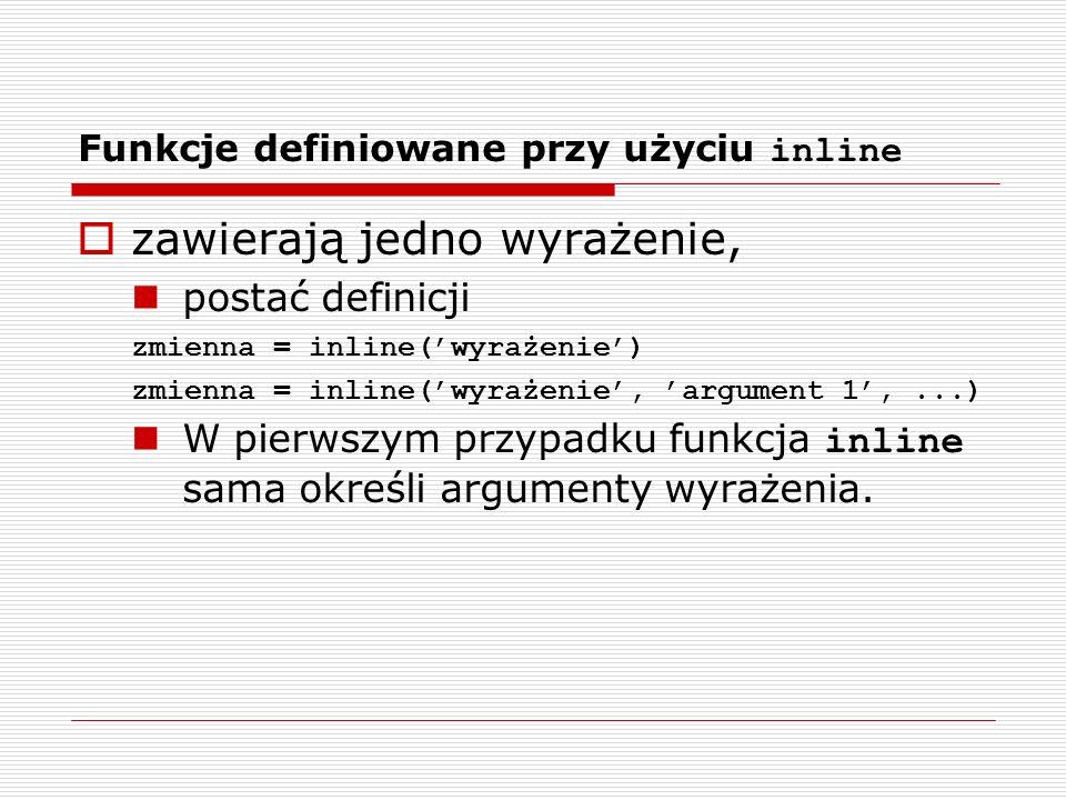 Funkcje definiowane przy użyciu inline