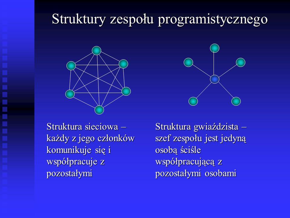 Struktury zespołu programistycznego