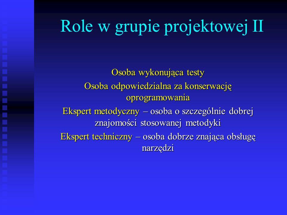 Role w grupie projektowej II