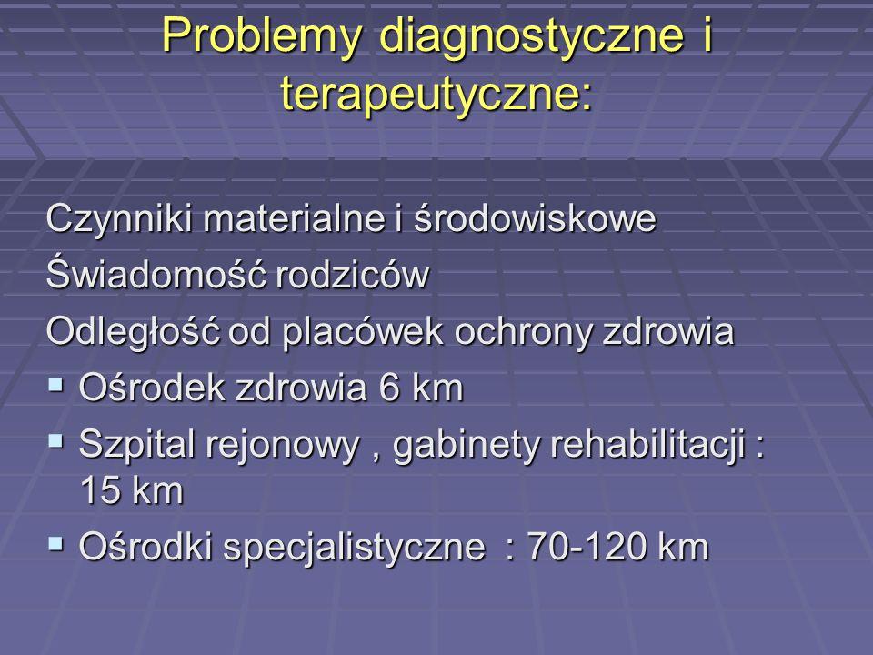 Problemy diagnostyczne i terapeutyczne:
