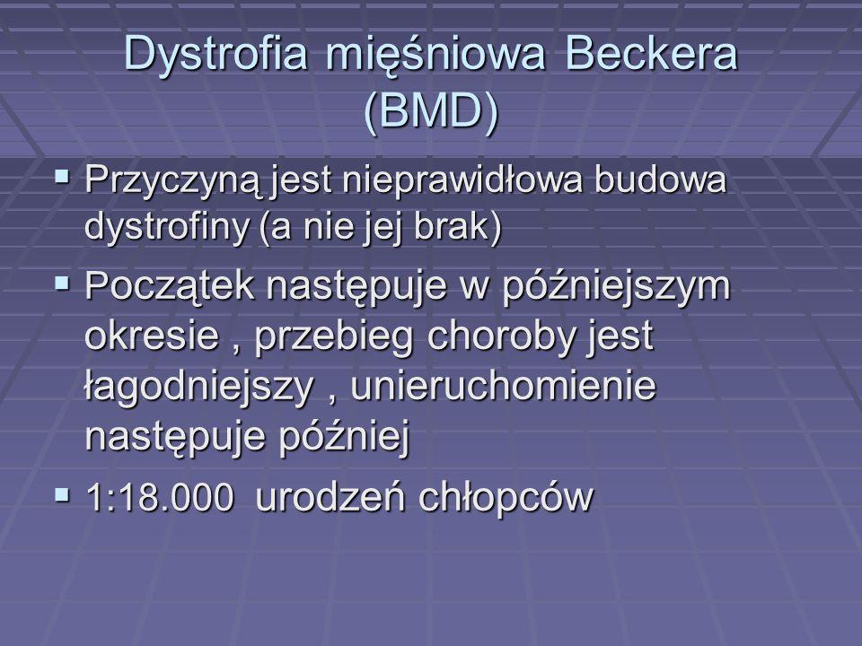 Dystrofia mięśniowa Beckera (BMD)