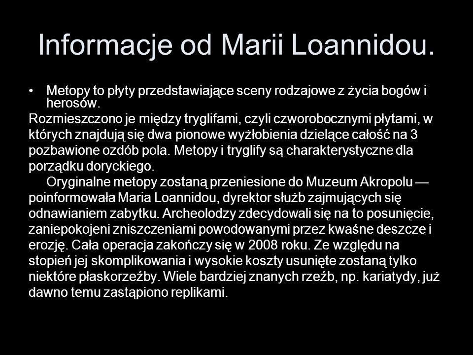 Informacje od Marii Loannidou.