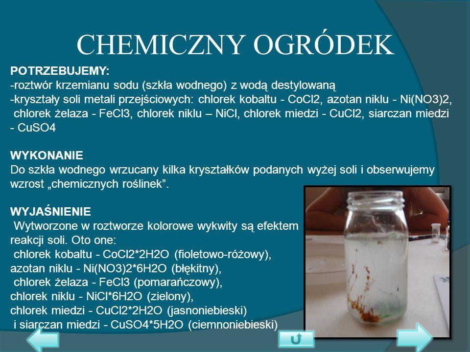 CHEMICZNY OGRÓDEK