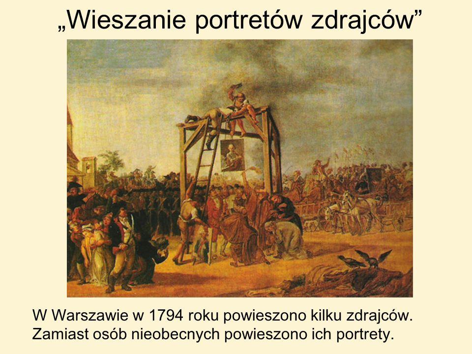 """""""Wieszanie portretów zdrajców"""