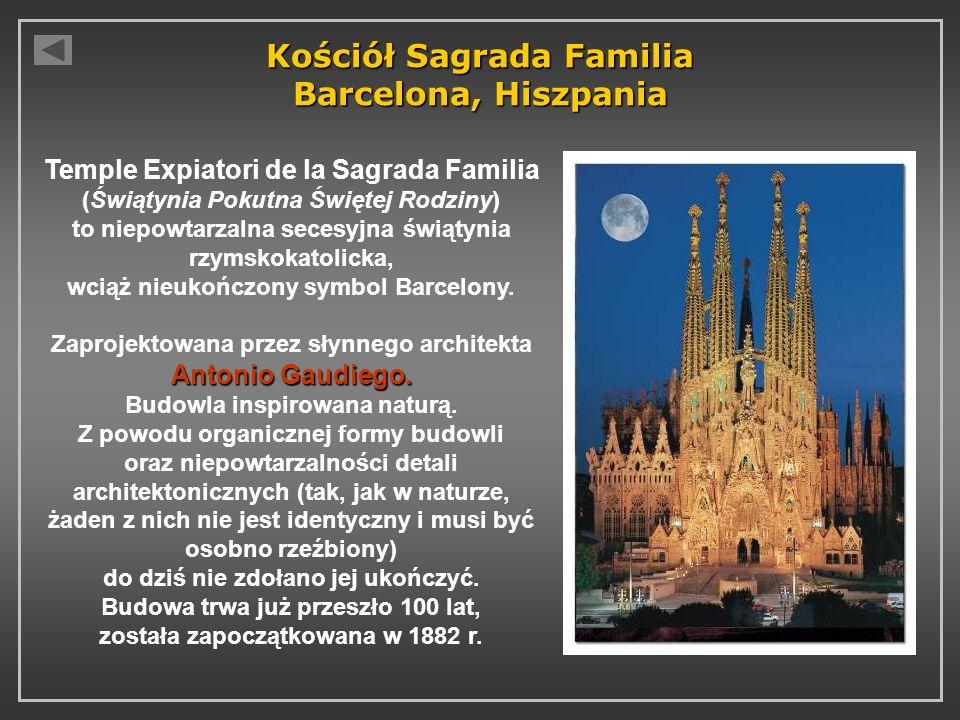 Kościół Sagrada Familia Barcelona, Hiszpania