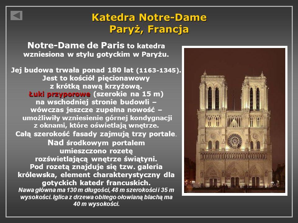 Katedra Notre-Dame Paryż, Francja