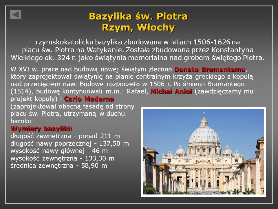 Bazylika św. Piotra Rzym, Włochy