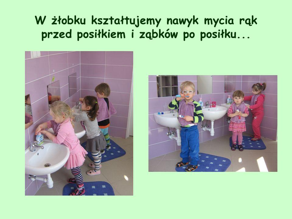 W żłobku kształtujemy nawyk mycia rąk przed posiłkiem i ząbków po posiłku...