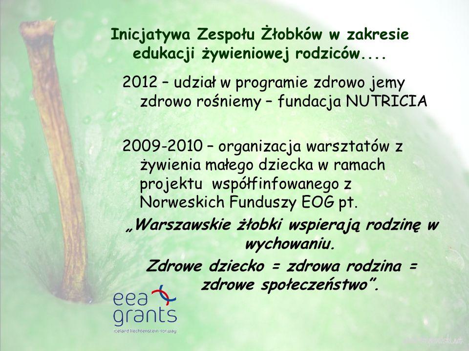 """""""Warszawskie żłobki wspierają rodzinę w wychowaniu."""