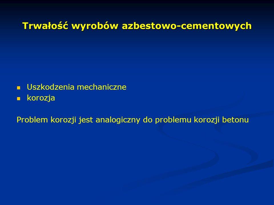 Trwałość wyrobów azbestowo-cementowych