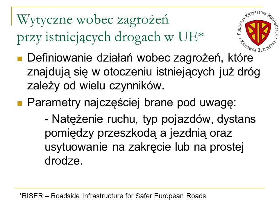 Wytyczne wobec zagrożeń przy istniejących drogach w UE*