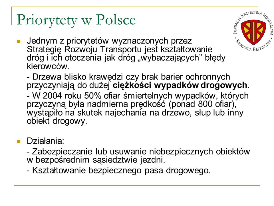 Priorytety w Polsce