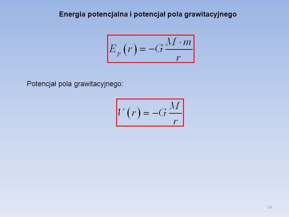 Energia potencjalna i potencjał pola grawitacyjnego