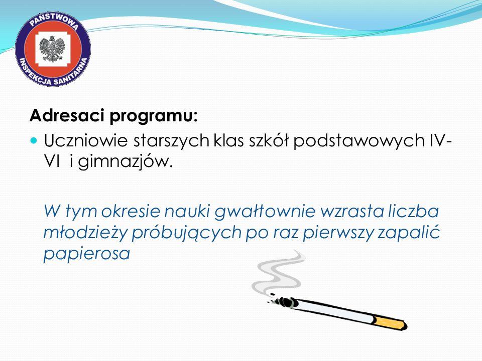Adresaci programu: Uczniowie starszych klas szkół podstawowych IV-VI i gimnazjów.