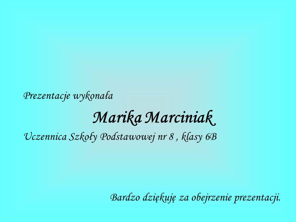 Marika Marciniak Prezentacje wykonała