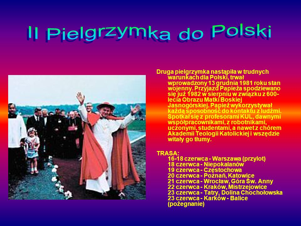 II Pielgrzymka do Polski