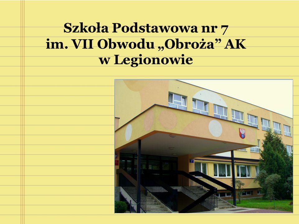 """Szkoła Podstawowa nr 7 im. VII Obwodu """"Obroża AK w Legionowie"""