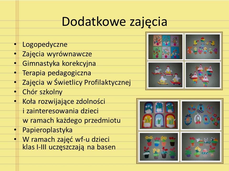 Dodatkowe zajęcia Logopedyczne Zajęcia wyrównawcze