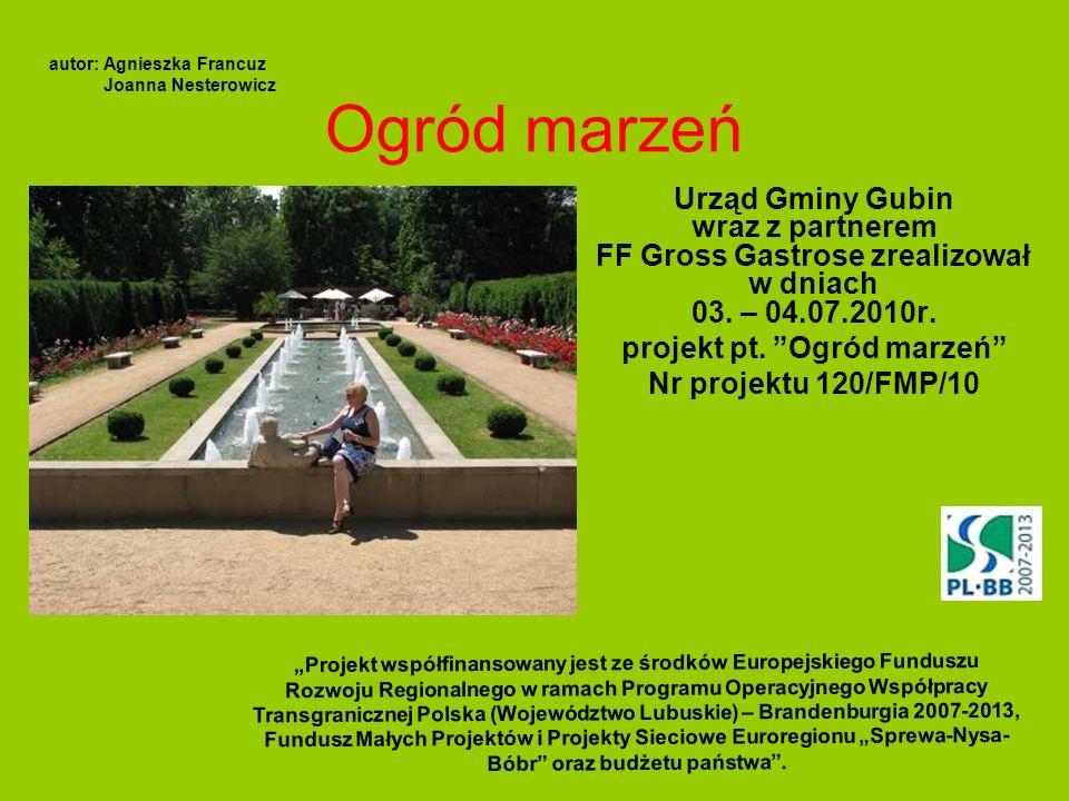 projekt pt. Ogród marzeń