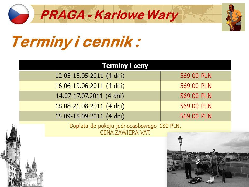 Dopłata do pokoju jednoosobowego 180 PLN.