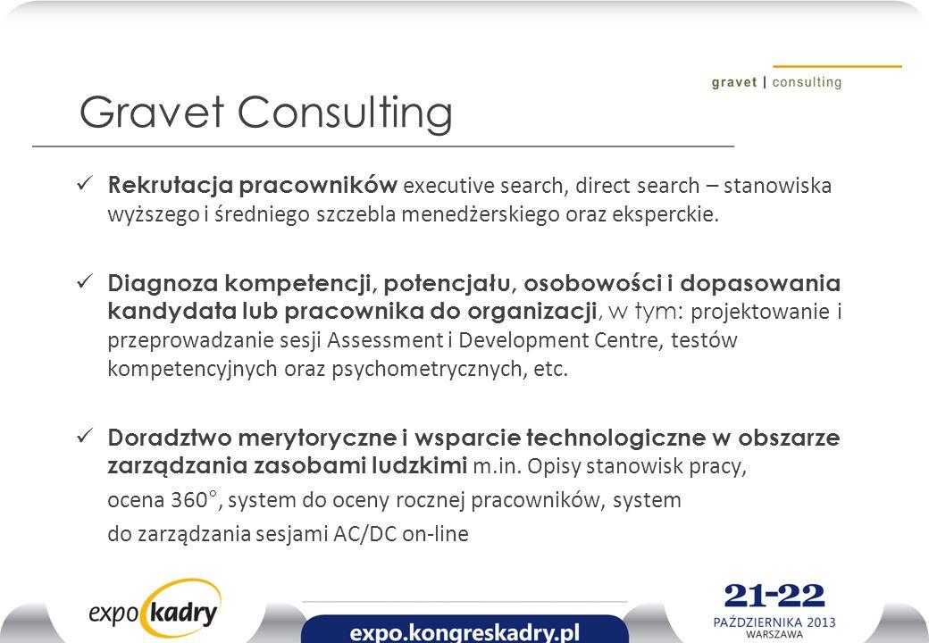 Gravet Consulting Rekrutacja pracowników executive search, direct search – stanowiska wyższego i średniego szczebla menedżerskiego oraz eksperckie.
