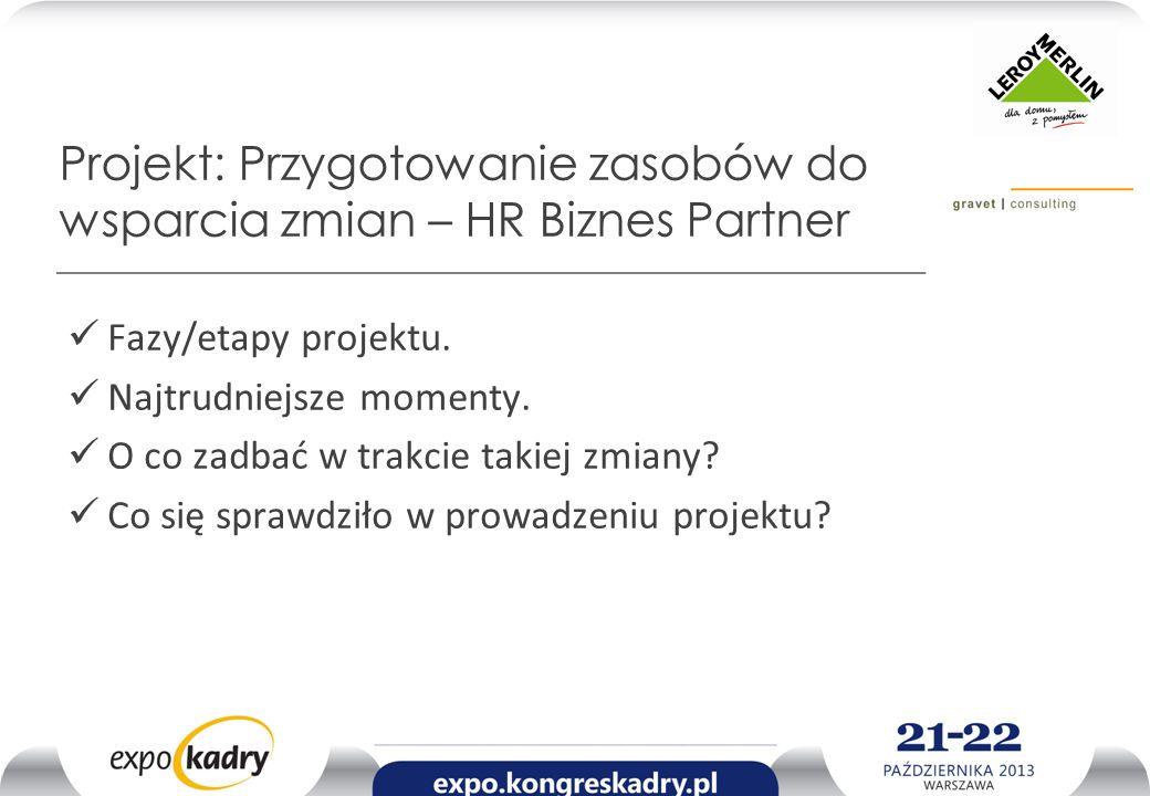 Projekt: Przygotowanie zasobów do wsparcia zmian – HR Biznes Partner