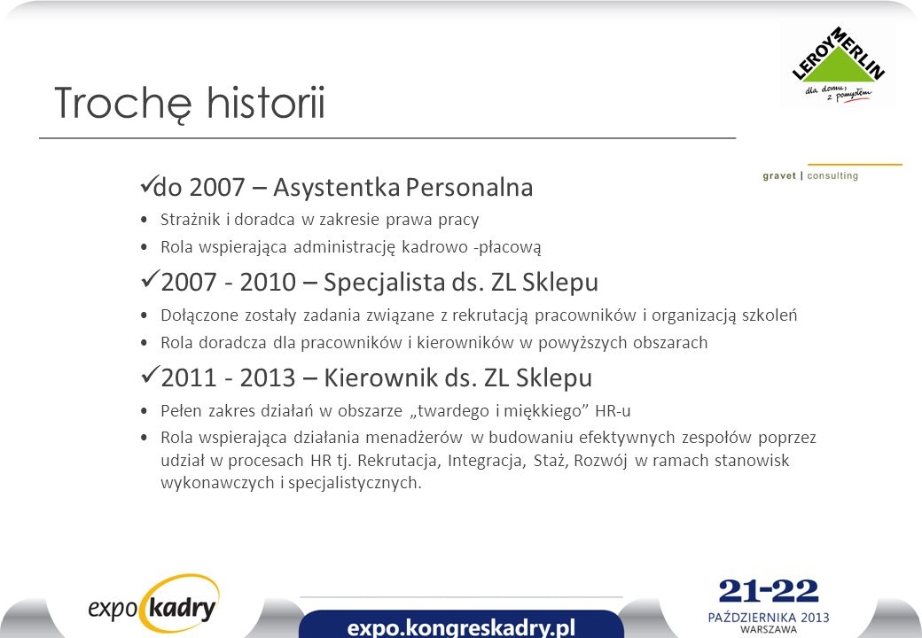 Trochę historii do 2007 – Asystentka Personalna