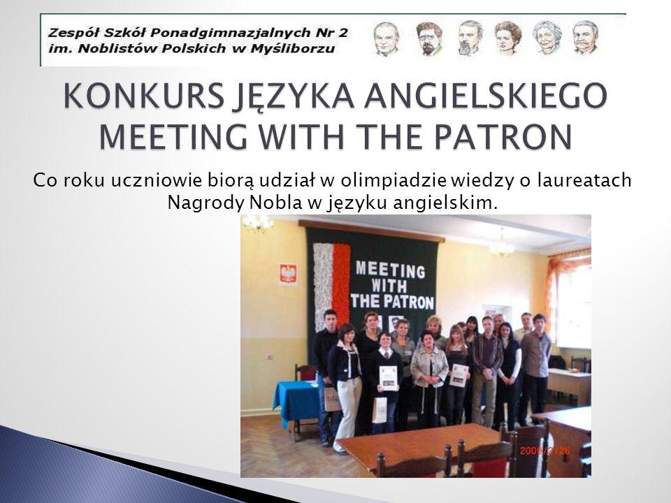 KONKURS JĘZYKA ANGIELSKIEGO MEETING WITH THE PATRON