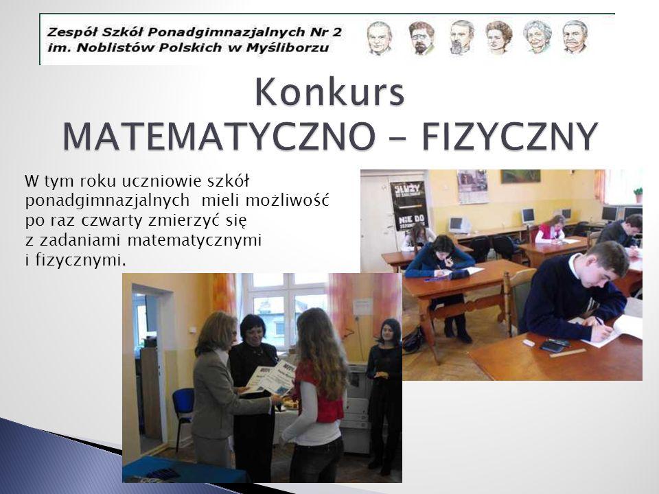 Konkurs MATEMATYCZNO - FIZYCZNY